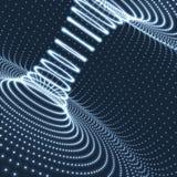 Abstract tunnelnet Futuristische technologiestijl 3D Oppervlakte kijkt als Trechter Het gloeien de Tunnelsectoren van de Puntenvo Stock Foto's
