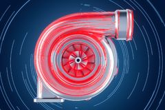 Abstract turbo 3D concept, Stock Foto