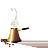 Abstract turk with coffee beans Royalty Free Stock Photo