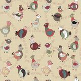 Abstract turkey bird, chicken and pigeon Stock Photo