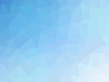 Abstract turquoise blue gradient low polygon shaped background.  Stock Images