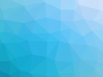 Abstract turquoise blue gradient low polygon shaped background.  Royalty Free Stock Photography