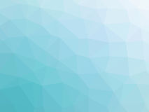 Abstract turquoise blue gradient low polygon shaped background.  Royalty Free Stock Photo