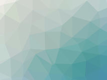 Abstract turquoise blue gradient low polygon shaped background.  Royalty Free Stock Image