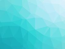 Abstract turquoise blue gradient low polygon shaped background.  royalty free illustration
