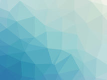 Abstract turquoise blue gradient polygonal background. Abstract turquoise blue gradient low polygon shaped background Royalty Free Stock Images