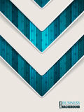 Abstract turquoise brochure with arrow shape Royalty Free Stock Photos