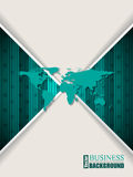 Abstract turquoise brochure with stripes stars and world map Royalty Free Stock Photography