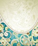 Abstract Turquoise Floral Background. Illustration of abstract floral background in asia style Stock Photos