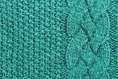 Abstract turquoise knitted wool background Royalty Free Stock Image