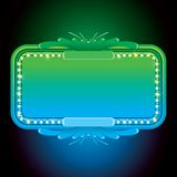 Abstract Turquoise Neon Sign. Design Background Royalty Free Stock Images