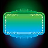 Abstract Turquoise Neon Sign. Vector Background Stock Images