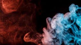 Abstract turquoise orange smoke Weipa royalty free stock image