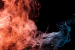 Abstract turquoise orange smoke Weipa Royalty Free Stock Photography