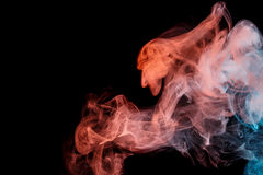 Abstract turquoise orange smoke Weipa Royalty Free Stock Photo