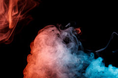 Abstract turquoise orange smoke Weipa Royalty Free Stock Images