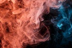 Abstract turquoise orange smoke Weipa royalty free stock photo