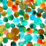 Abstract turquoise watercolor dye seamless pattern Stock Image