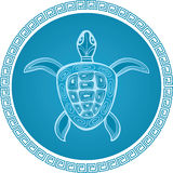 Abstract turtle symbol. Vackground royalty free illustration