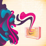 Abstract tv banner. Stock Photography