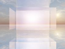 Abstract TV Screen royalty free illustration