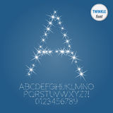 Abstract Twinkle Alphabet and Digit Vector Stock Photos