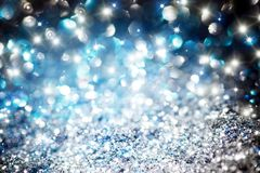 Christmas twinkle glitter background stock images
