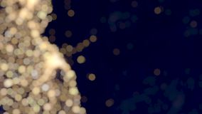 Abstract twinkling warm white bokeh blur lights overlay background left side stock video