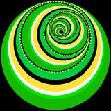 Abstract Twirl. Abstract Background - green and yellow twirl isolated on black background vector illustration