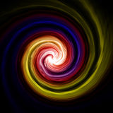 Abstract twirl background. In dark space stock illustration