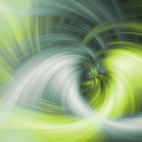 Abstract twirl background. Abstract energy twirl background in green tone Stock Photo