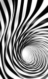Abstract twirl. 3d background. Abstract swirl and hole Stock Image
