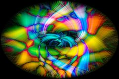 Abstract twirl effect background. Colorful abstract twirl effect background stock images