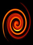 Abstract twirled fire Stock Image