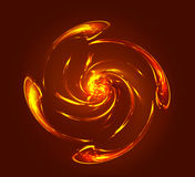 Abstract twist spiral resembling planet or star Stock Photo