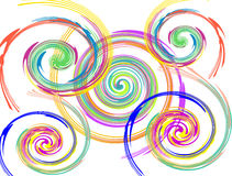 Abstract twisted circle background Royalty Free Stock Photography