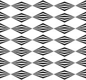 Abstract twisted geometric pattern - Seamlessly repeatable edgy. Monochrome background. - Royalty free vector illustration Royalty Free Stock Photography