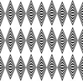 Abstract twisted geometric pattern - Seamlessly repeatable edgy. Monochrome background. - Royalty free vector illustration Stock Images