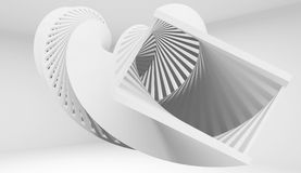 Abstract twisted helix object, 3 d. Abstract twisted helix object, 3d illustration stock illustration