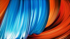 Free Abstract Twisted Shape Background. Modern Colorful Dynamic Curl Royalty Free Stock Photo - 171980845