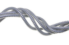 Abstract twisted steel pipes Royalty Free Stock Photography