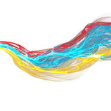 Abstract twisted waves Royalty Free Stock Photos