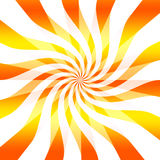 Abstract twisting background. Abstract, fun background of twisting or twirling orange and yellow lines, white background Stock Photography
