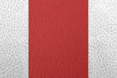 Abstract two color leather. Abstract white and red color leather background Stock Photo