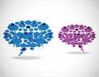 Abstract two speech bubbles Stock Photo