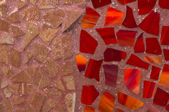 Abstract twotone mosaic wall decorative Stock Photos