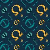 Abstract typografisch symbolen naadloos patroon Royalty-vrije Stock Afbeeldingen