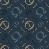 Abstract typografisch symbolen naadloos patroon Royalty-vrije Stock Fotografie
