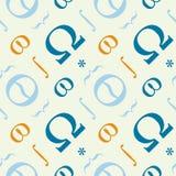 Abstract typografisch symbolen naadloos patroon Royalty-vrije Stock Foto's