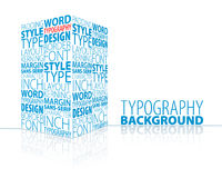 Abstract typography background Royalty Free Stock Photos